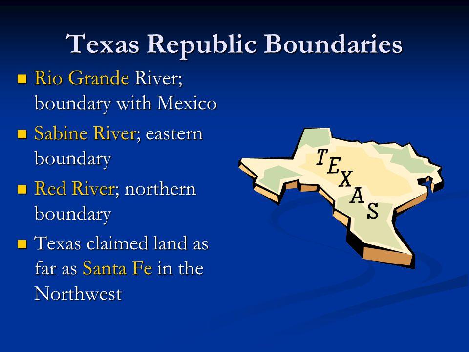 Texas Republic Boundaries