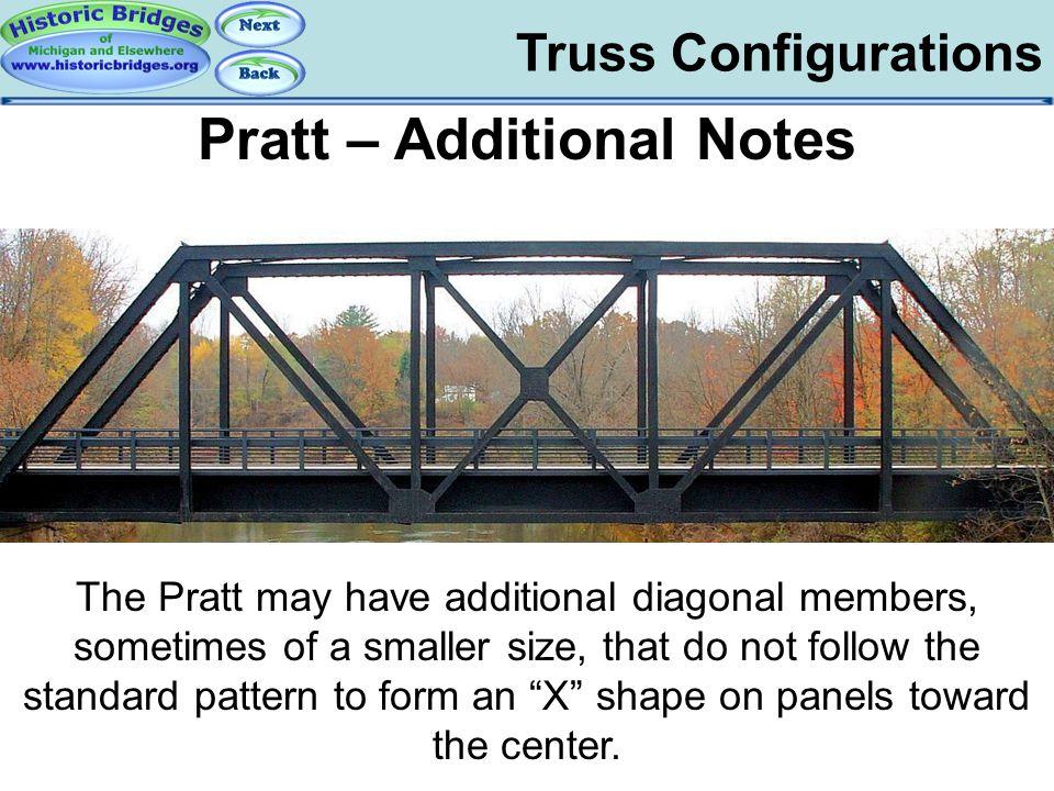 Truss Configs – Pratt Notes