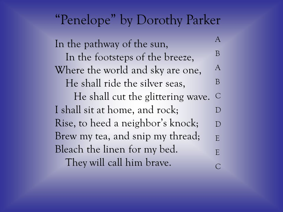 Penelope by Dorothy Parker