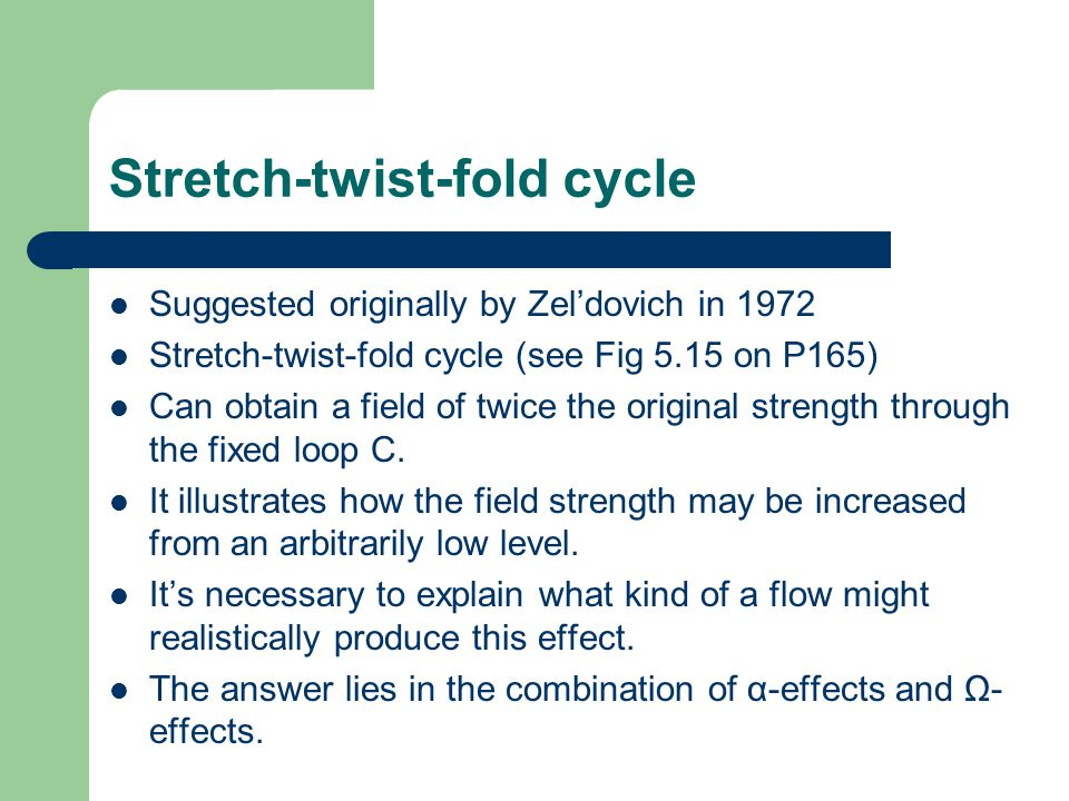 Stretch-twist-fold cycle