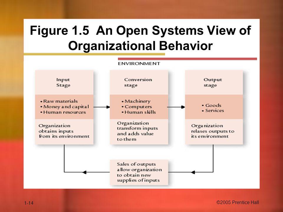 Figure 1.5 An Open Systems View of Organizational Behavior