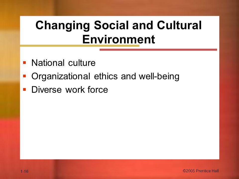 Changing Social and Cultural Environment