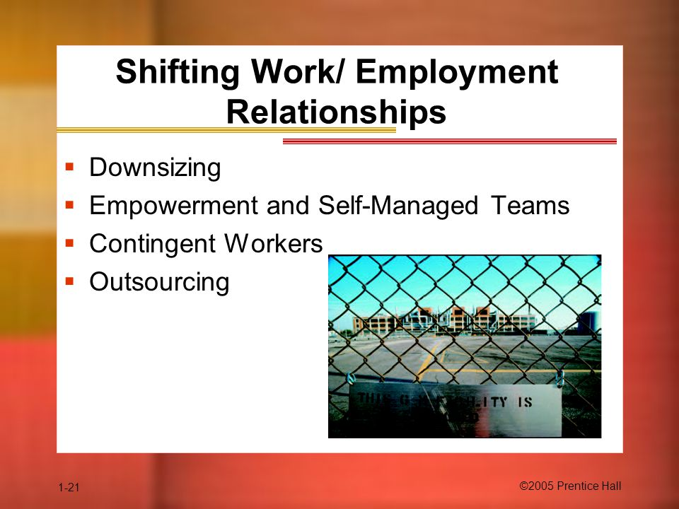 Shifting Work/ Employment Relationships