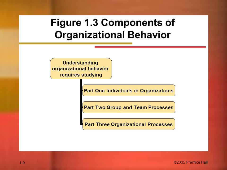 Figure 1.3 Components of Organizational Behavior