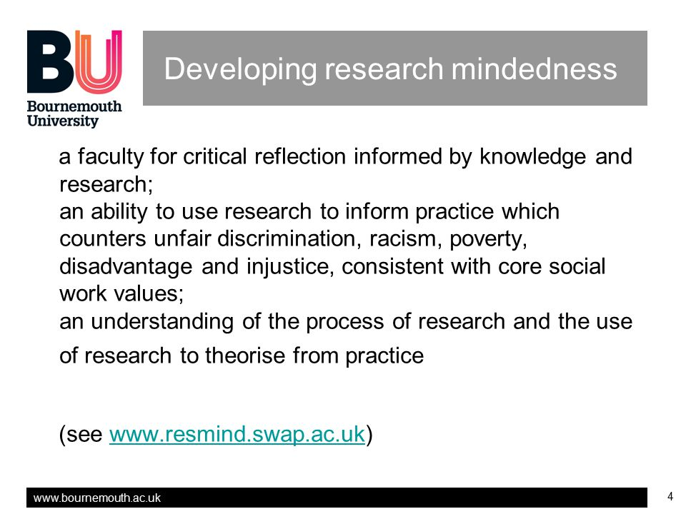 Developing research mindedness
