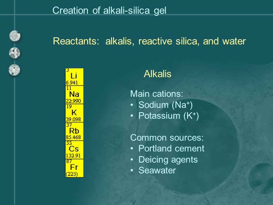 Creation of alkali-silica gel