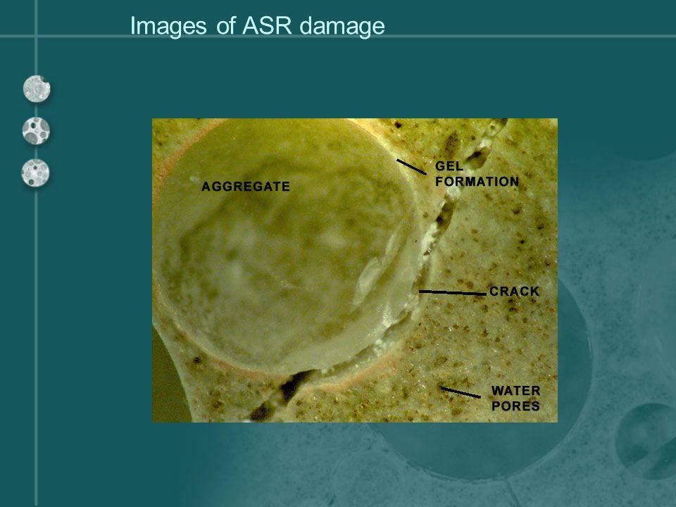 Images of ASR damage
