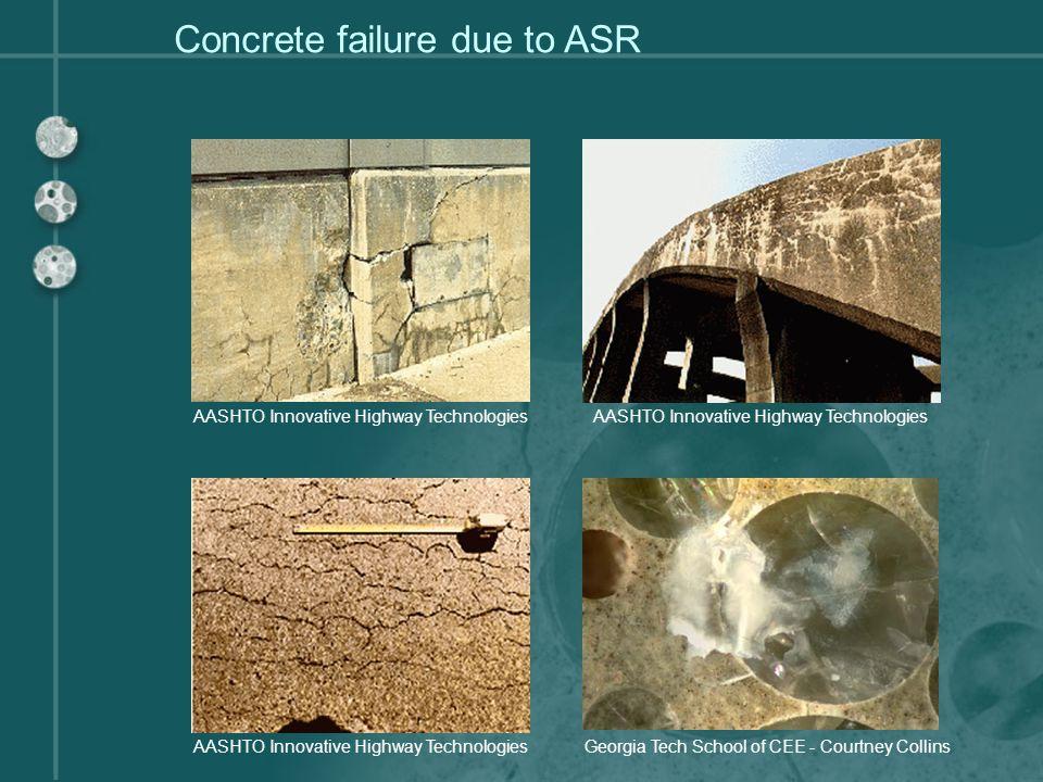 Concrete failure due to ASR
