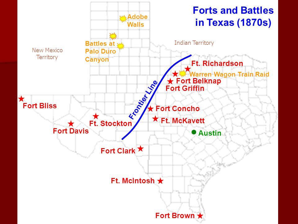 Forts and Battles in Texas (1870s)