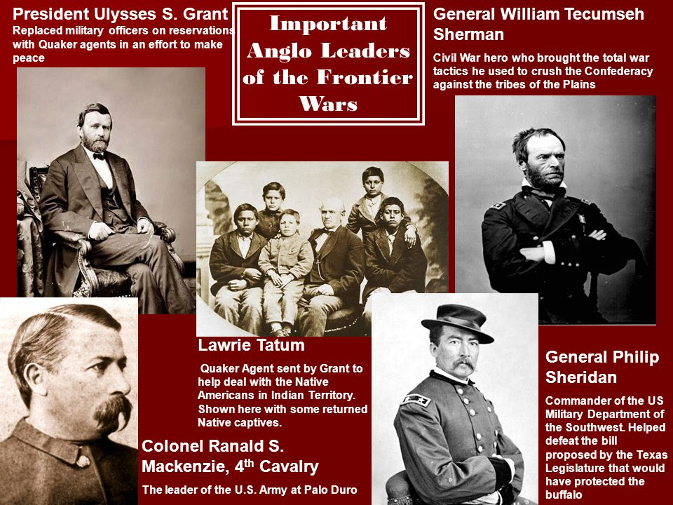 Important Anglo Leaders of the Frontier Wars