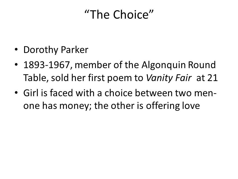 The Choice Dorothy Parker