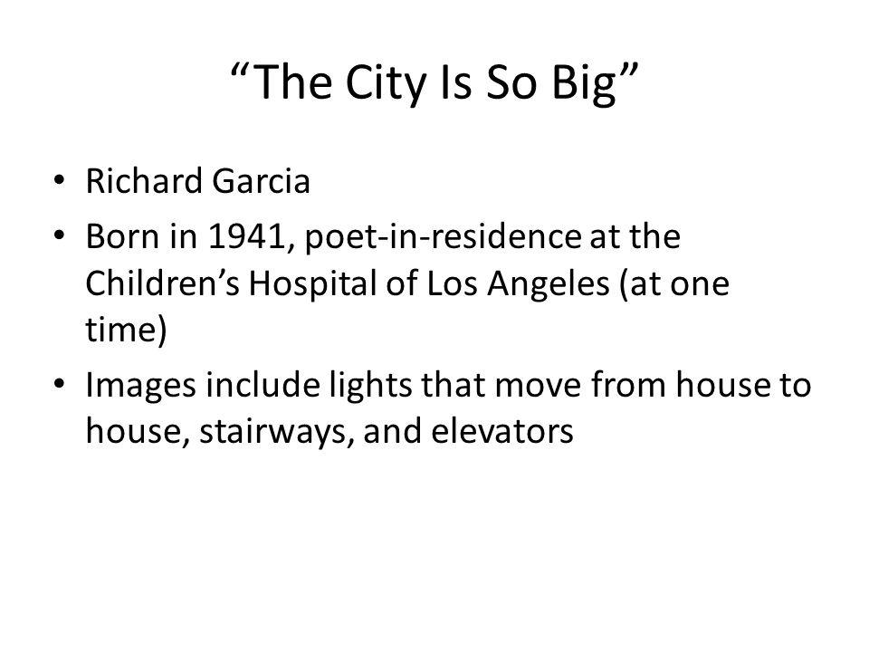 The City Is So Big Richard Garcia
