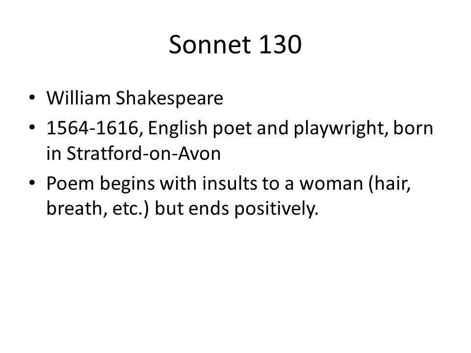 Sonnet 130 William Shakespeare
