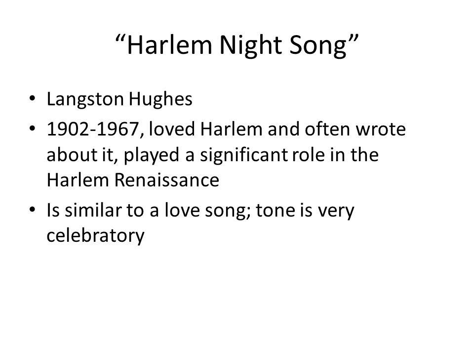 Harlem Night Song Langston Hughes