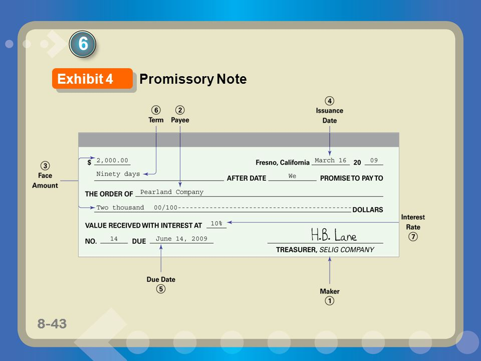 6 Exhibit 4 Promissory Note