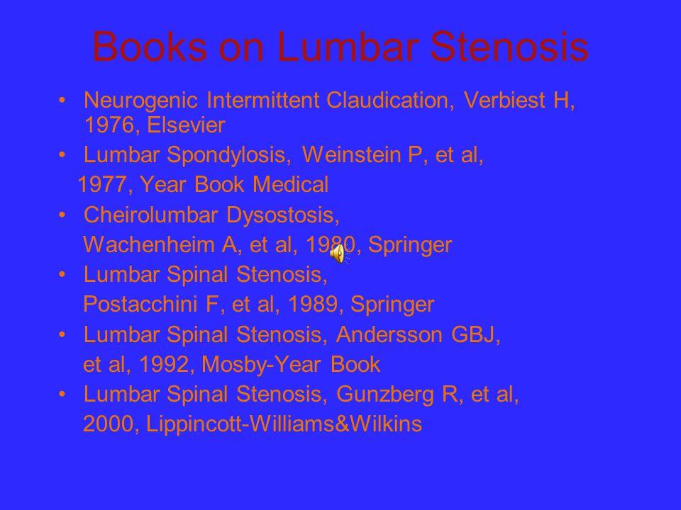 Books on Lumbar Stenosis