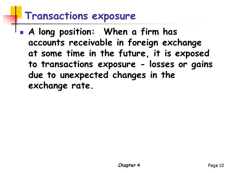 Transactions exposure