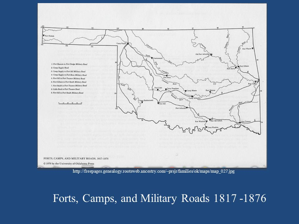 Forts, Camps, and Military Roads 1817 -1876