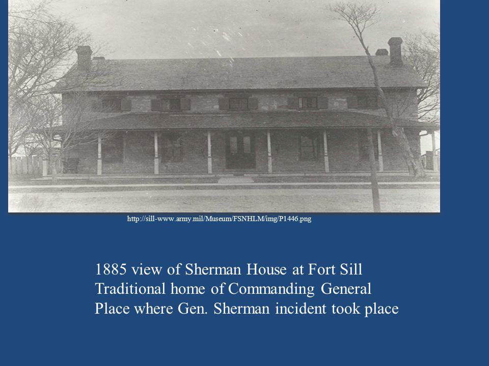 1885 view of Sherman House at Fort Sill