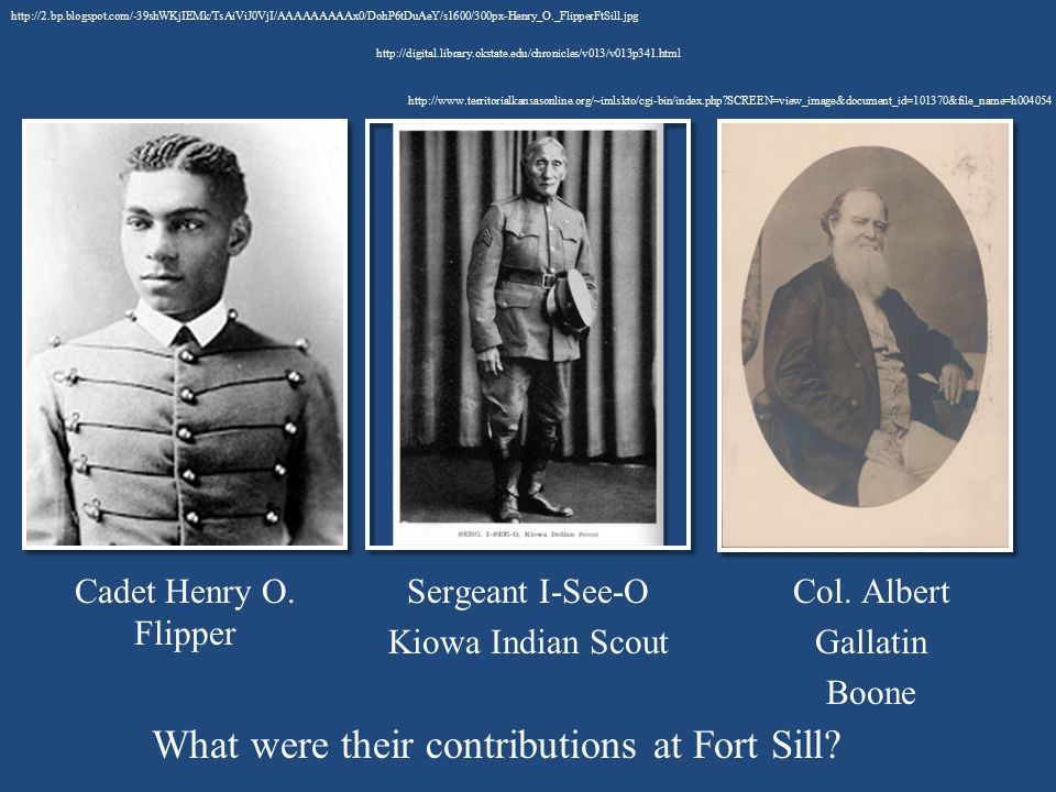 What were their contributions at Fort Sill