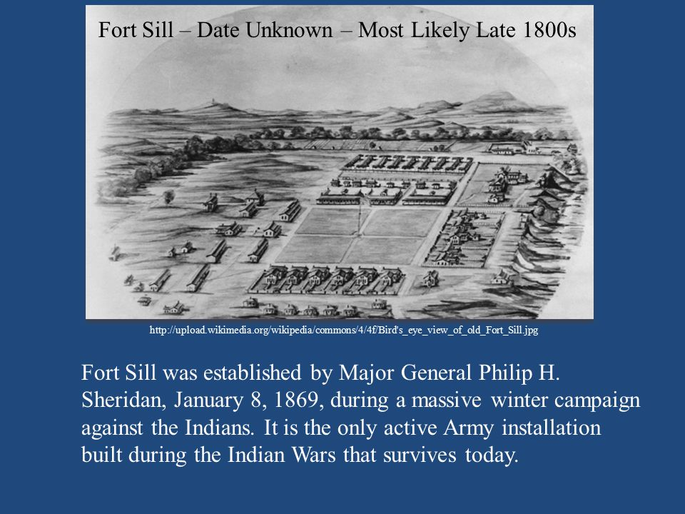 Fort Sill – Date Unknown – Most Likely Late 1800s