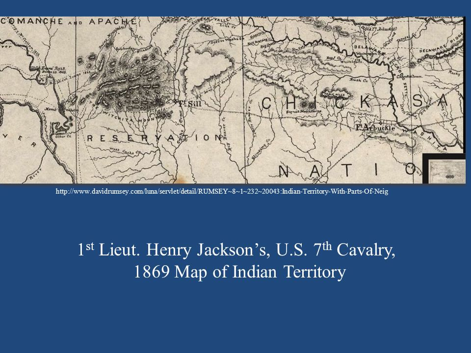 1st Lieut. Henry Jackson's, U.S. 7th Cavalry,