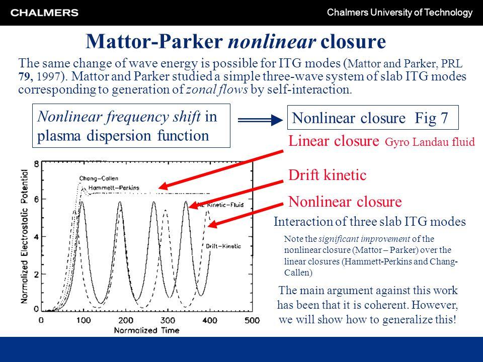 Mattor-Parker nonlinear closure
