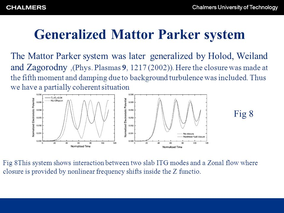 Generalized Mattor Parker system