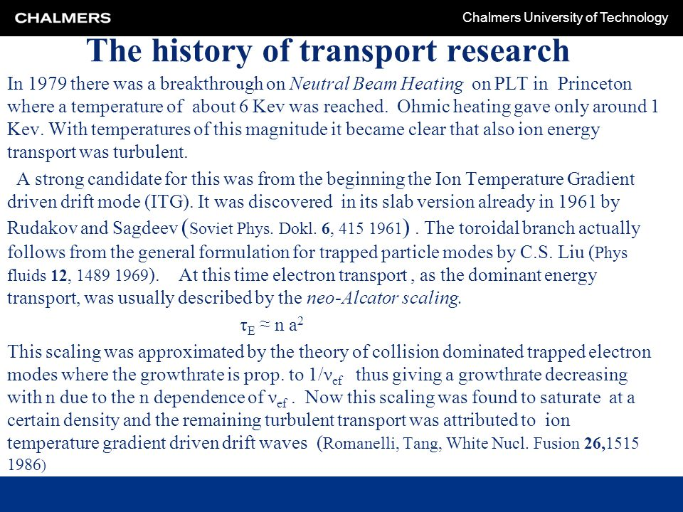 The history of transport research