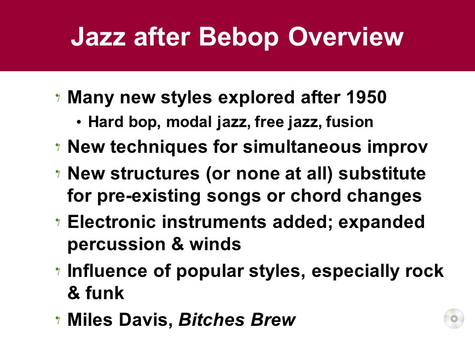 Jazz after Bebop Overview