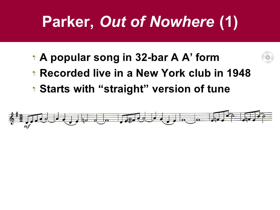 Parker, Out of Nowhere (1)