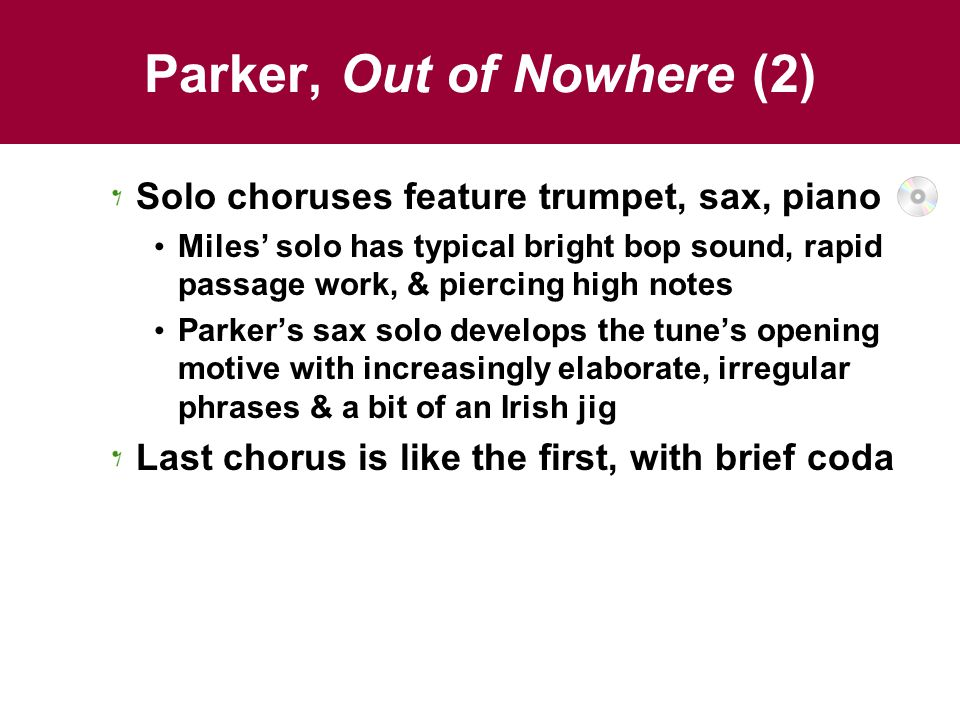 Parker, Out of Nowhere (2)