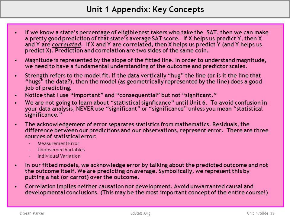 Unit 1 Appendix: Key Concepts