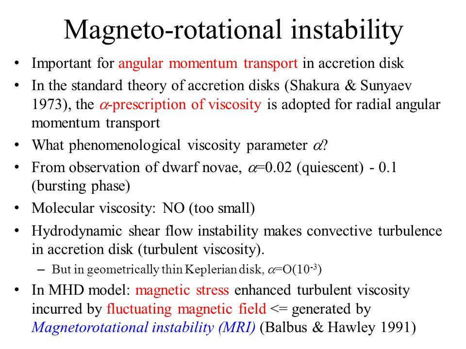 Magneto-rotational instability