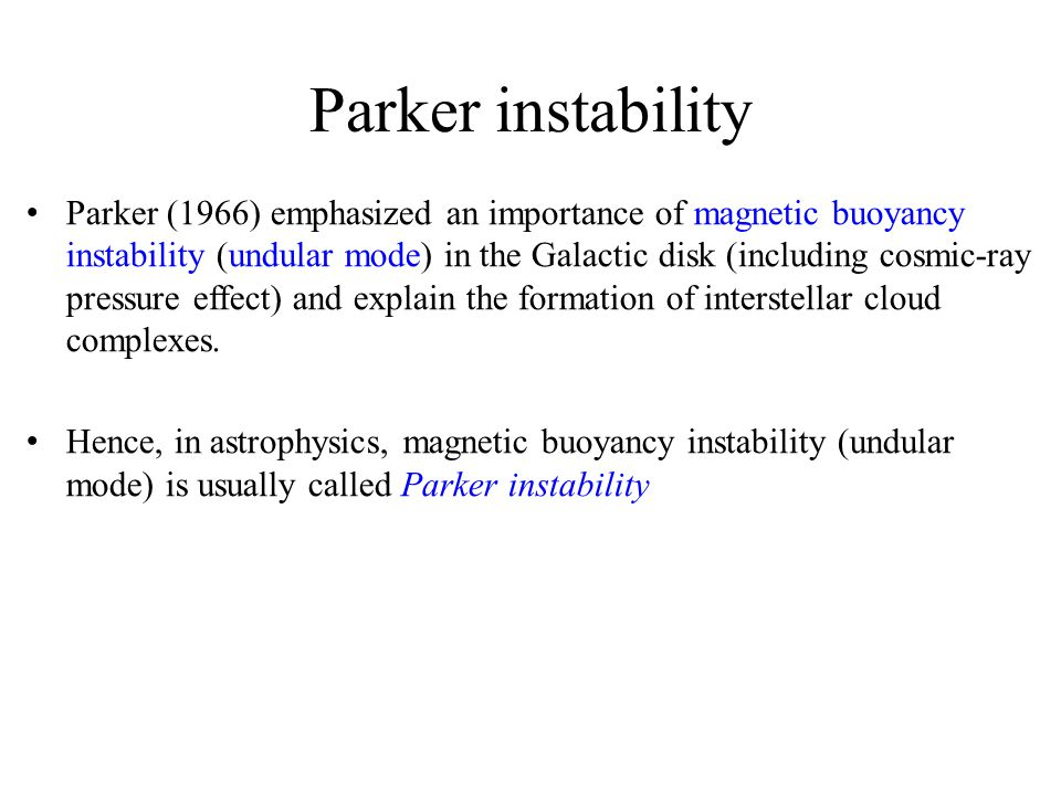 Parker instability