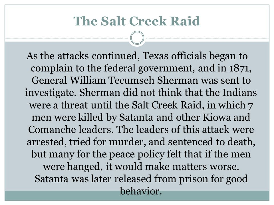 The Salt Creek Raid