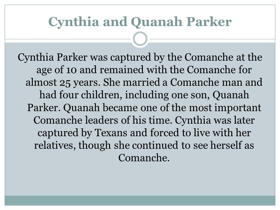 Cynthia and Quanah Parker