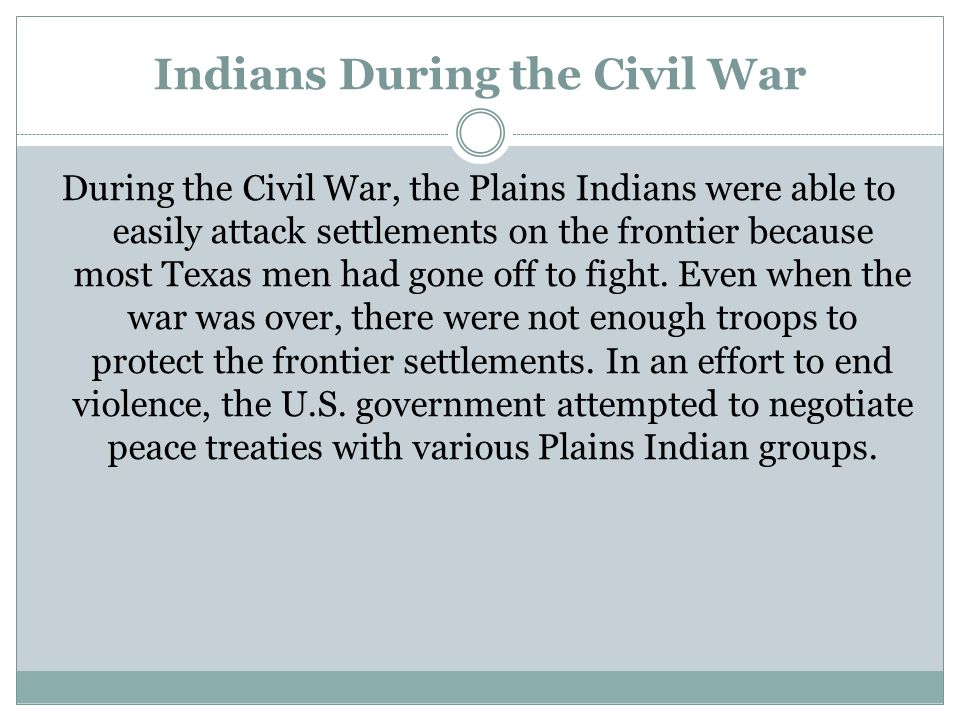 Indians During the Civil War
