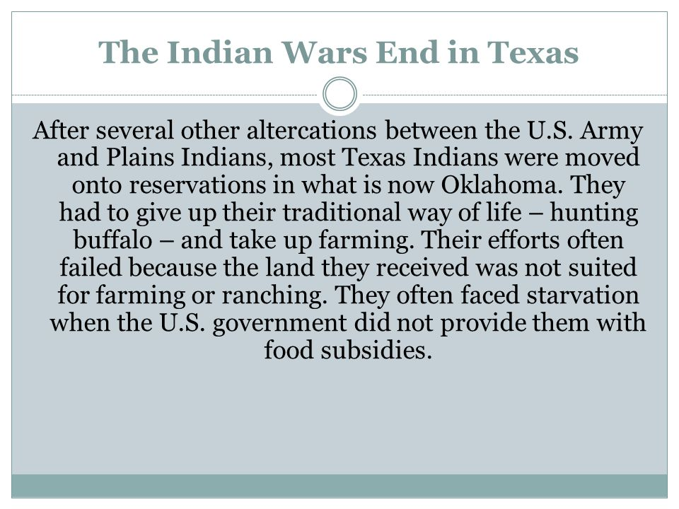 The Indian Wars End in Texas