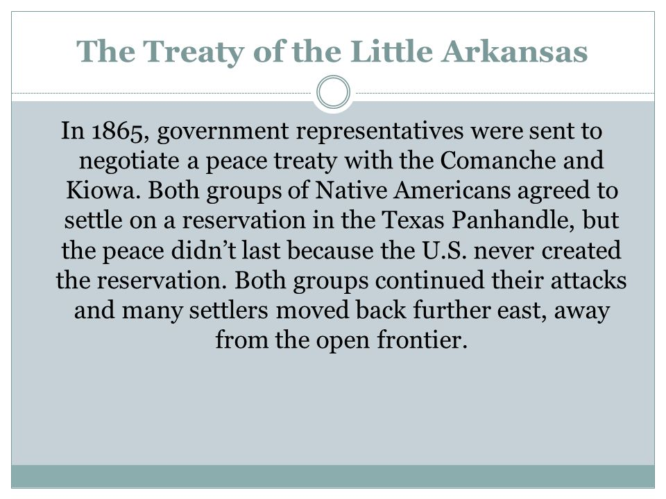 The Treaty of the Little Arkansas