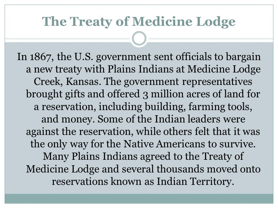 The Treaty of Medicine Lodge