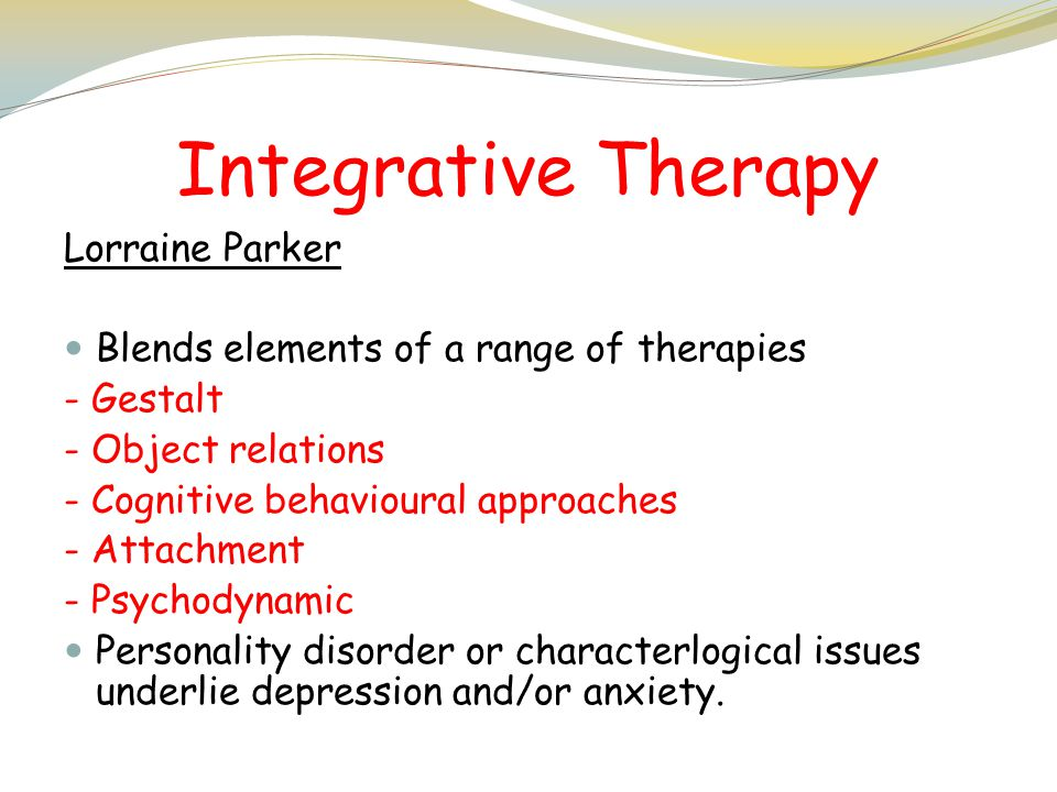 Integrative Therapy Lorraine Parker
