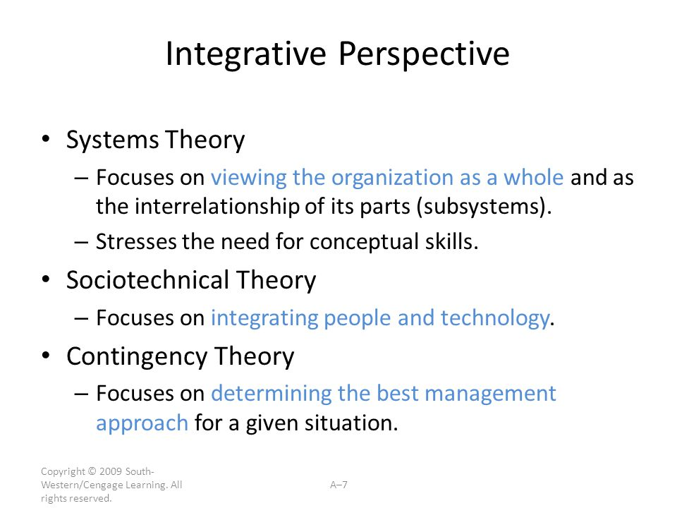 Integrative Perspective