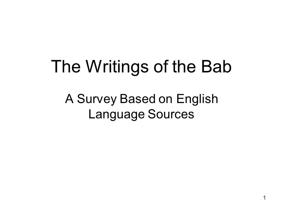 A Survey Based on English Language Sources