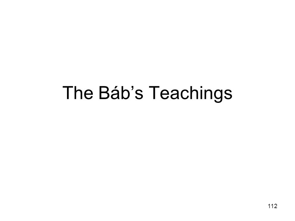 The Báb's Teachings