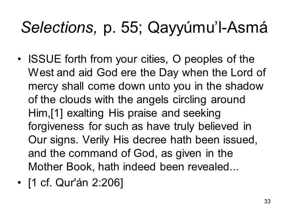 Selections, p. 55; Qayyúmu'l-Asmá
