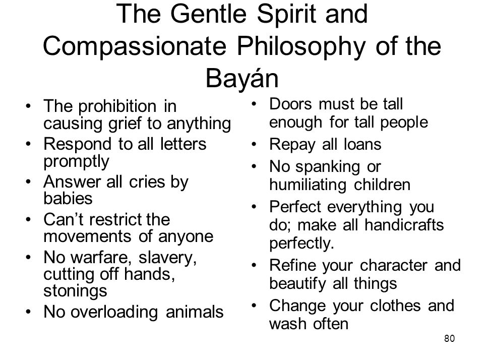 The Gentle Spirit and Compassionate Philosophy of the Bayán