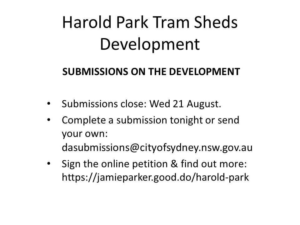 Harold Park Tram Sheds Development