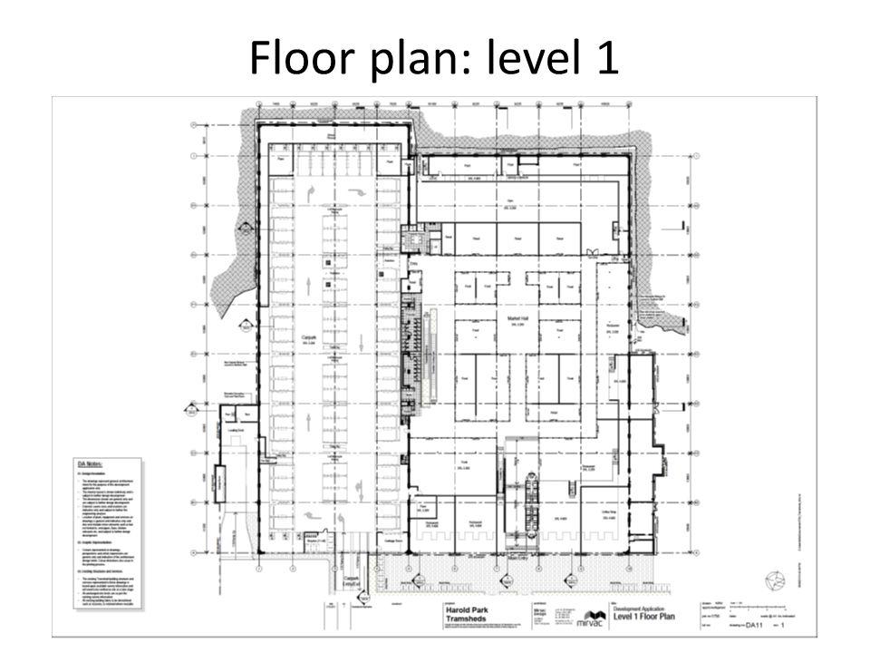 Floor plan: level 1