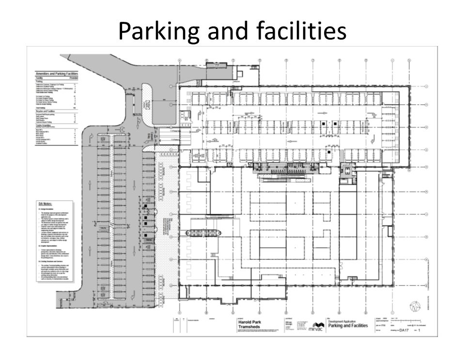Parking and facilities